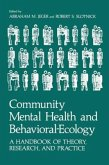 Community Mental Health and Behavioral-Ecology: A Handbook of Theory, Research, and Practice