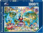 Ravensburger 15785 - Disney's Weltkarte, 1000 Teile Puzzle