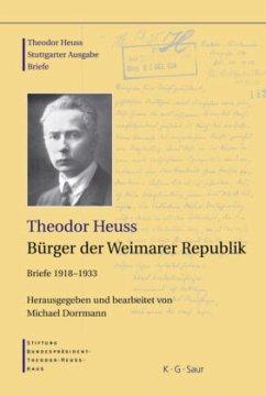 Bürger der Weimarer Republik - Heuss, Theodor