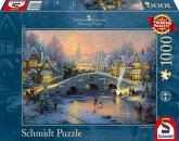 Schmidt 58450 - Thomas Kinkade: Winterliches Dorf, Puzzle 1000 Teile