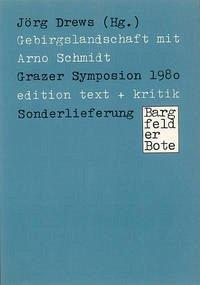 Gebirgslandschaft mit Arno Schmidt