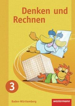 Denken und Rechnen 3. Schülerband. Grundschule. Baden-Württemberg