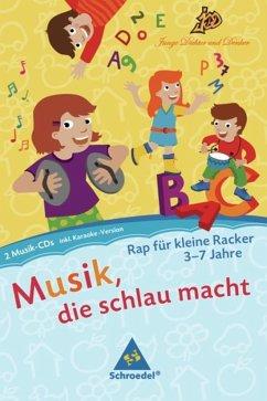 Raps für kleine Racker, 2 Audio-CDs, Audio-CD / Junge Dichter und Denker: Musik, die schlau macht