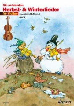 Die schönsten Herbst- & Winterlieder, für 2 Violinen