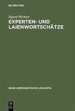 Experten- und Laienwortschätze
