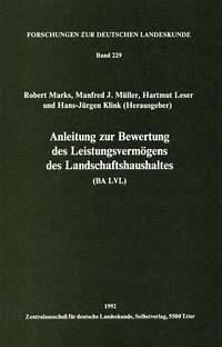 Anleitung zur Bewertung des Leistungsvermögens des Landschaftshaushaltes (BA LVL)