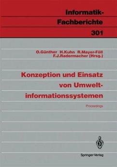 Konzeption und Einsatz von Umweltinformationssystemen