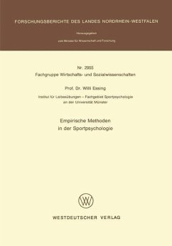 Empirische Methoden in der Sportpsychologie - Essing, Willi