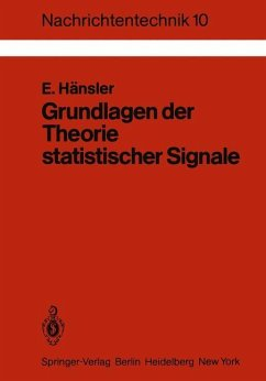 Grundlagen der Theorie statistischer Signale - Hänsler, Eberhard