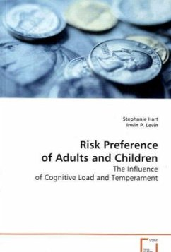 Risk Preference of Adults and Children - Hart, Stephanie