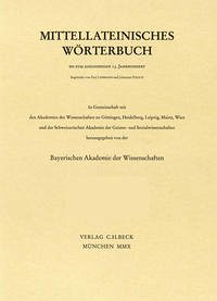 Mittellateinisches Wörterbuch Abkürzungs- und Quellenverzeichnis