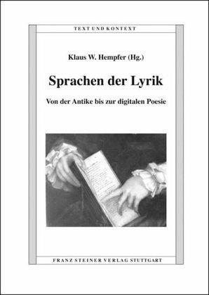 Sprachen der Lyrik