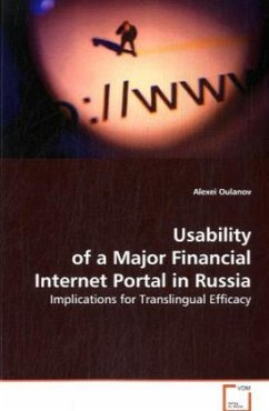 Usability of a Major Financial Internet Portal in Russia