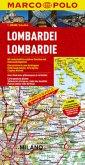 Marco Polo Karte Lombardei; Lombardie; Lombardia; Lombardy