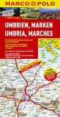 Marco Polo Karte Umbrien, Marken; Umbria, Marches; Umbria, Marche. Ombrie, Marches
