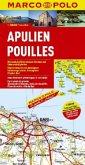 Marco Polo Karte Apulien; Pouilles / Puglia / Apulia