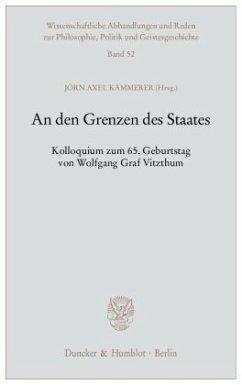 An den Grenzen des Staates - Kämmerer, Jörn Axel (Hrsg.)
