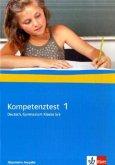 5./6. Klasse, Arbeitsheft mit Lösungen, Gymnasium, Allgemeine Ausgabe / Kompetenztest Deutsch Bd.1