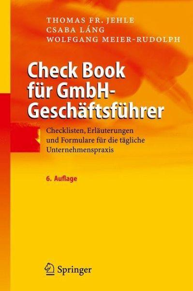 Check Book Für Gmbh Geschäftsführer Von Thomas Fr Jehle Csaba Lang