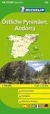 Michelin Karte Östliche Pyrenäen, Andorra; Pyrénées Orientales, Andorre