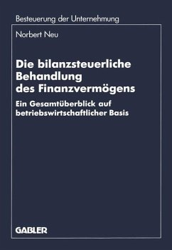Die bilanzsteuerliche Behandlung des Finanzvermögens - Neu, Norbert