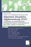 Allgemeine Steuerlehre, Abgabenordnung, (FGO)