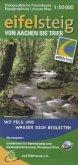 Topographische Freizeitkarte Rheinland-Pfalz Eifelsteig von Aachen bis Trier
