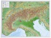 Alpen, Reliefkarte, klein; Alps