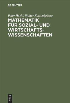 Mathematik für Sozial- und Wirtschaftswissenschaften - Hackl, Peter; Katzenbeisser, Walter