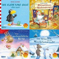 Winterzeit mit Maxi Pixi (4x1 Exemplar) - Jakobs, Günther; Frisque, Anne-Marie; Himmel, Anna; Moost, Nele; Chapman, Linda