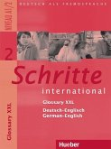 Schritte international 2. Niveau A1/2 / Glossar XXL Deutsch-Englisch, Glossary German-English