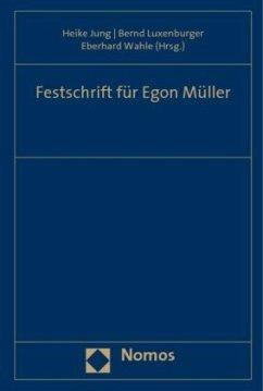 Festschrift für Egon Müller