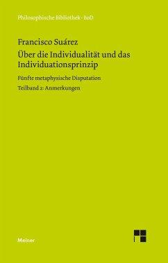 Über die Individualität und das Individuationsprinzip. 5. methaphysische Disputation / Über die Individualität und das Individuationsprinzip. 5. methaphysische Disputation - Suarez, Francisco