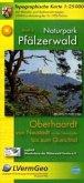 Topographische Karte Rheinland-Pfalz Naturpark Pfälzerwald