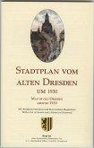 Stadtplan vom alten Dresden um 1930; Map of Old Dresden around 1930