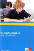 Kompetenztest Deutsch 2. Klasse 7/8 Gymnasium. Arbeitsheft mit Lösungen. Allgemeine Ausgabe