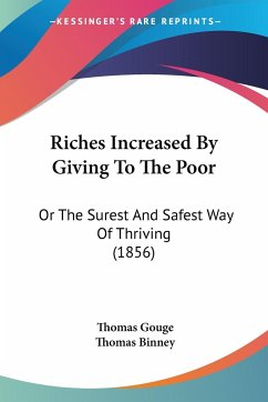 Riches Increased By Giving To The Poor