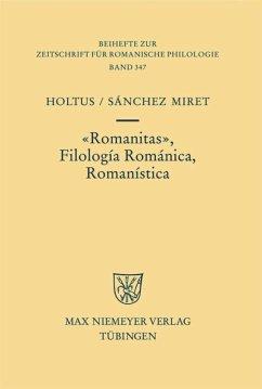 Romanitas - Filología Románica - Romanística
