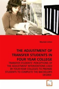 THE ADJUSTMENT OF TRANSFER STUDENTS IN FOUR YEAR COLLEGE - Linton, Maureen