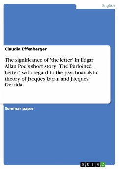 The significance of 'the letter' in Edgar Allan Poe's short story