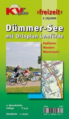 KVplan Freizeit Dümmer See mit Ortsplan Lemförde