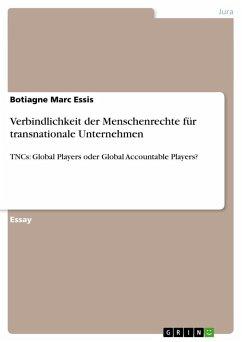 Verbindlichkeit der Menschenrechte für transnationale Unternehmen