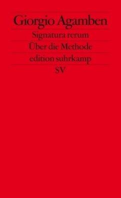 Signatura rerum, Zur Methode - Agamben, Giorgio