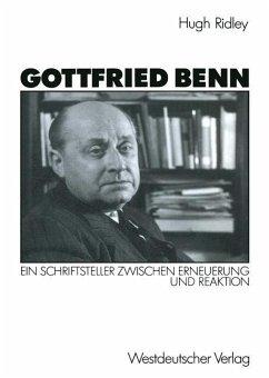 Gottfried Benn - Ridley, Hugh