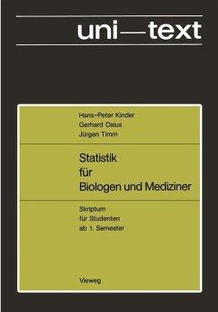 Statistik für Biologen und Mediziner - Kinder, Hans-Peter; Osius, Gerhard; Timm, Jürgen