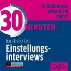 30 Minuten Einstellungsinterviews, Audio-CD