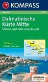 Kompass Karte Dalmatinische Küste Mitte