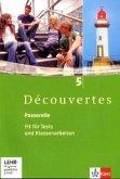 Découvertes 5. Passerelle. Fit für Tests und Klassenarbeiten. Arbeitsheft mit Lösungen und CD-ROM