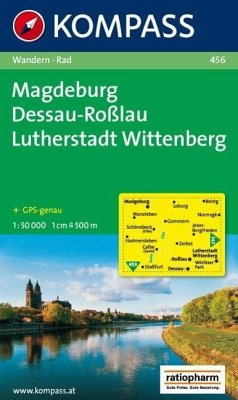 Kompass Karte Magdeburg, Dessau-Roßlau, Lutherstadt Wittenberg