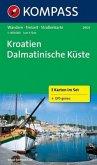 Kompass Karte Kroatien - Dalmatinische Küste, 3 Bl.